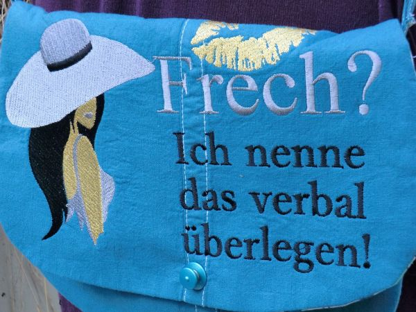 Freches petrolfarbenes Taschenset
