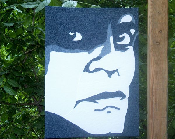 Portrait Klaus Kinski blau