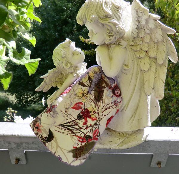 Jeanstäschen 18X14 lila & bunt