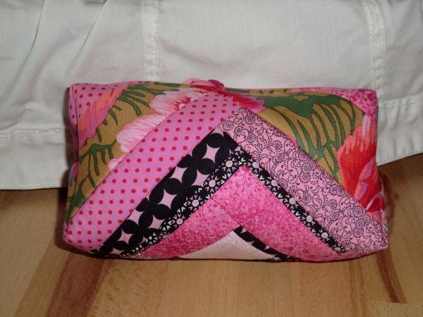 Patchwork-Kosmetik-Tasche Pink-bunt