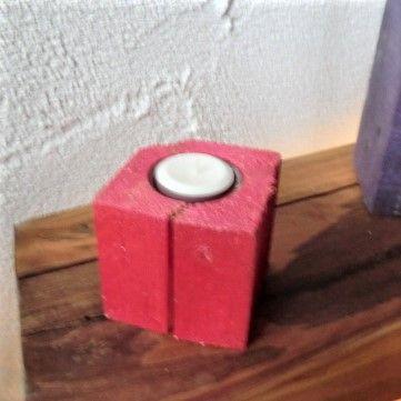 Kerzenhalter metallic rot