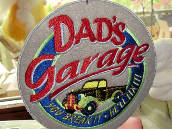 Dad`s Garage Schild