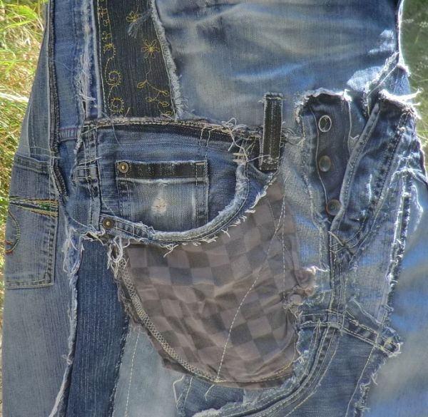 Rock upcycling JEANS PATCHWORK