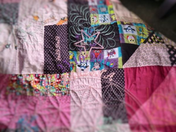 Geburts-Patchwork-Decke