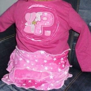 Upcycling pinkfarbenes Kleidchen Größe 74/80