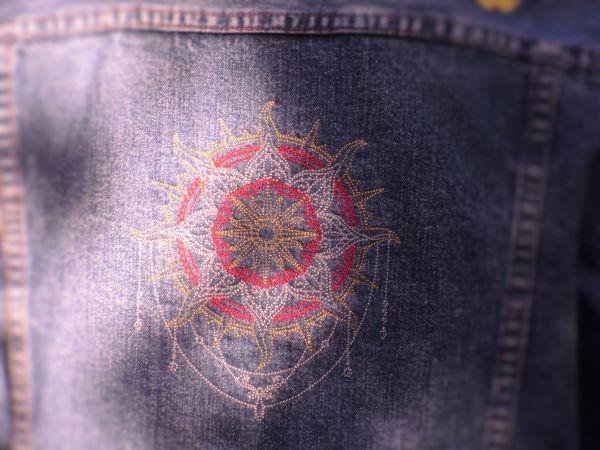 Jeansjacke mit Traumfänger