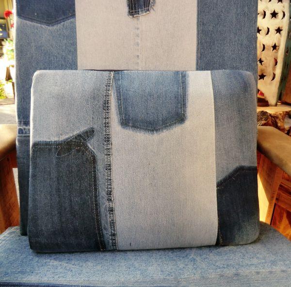 Patchwork-Jeans-Kissen-48*38