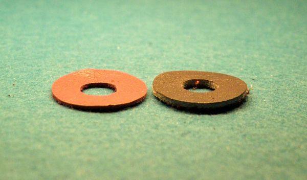 10*Lederscheiben braun 4 mm Stärke