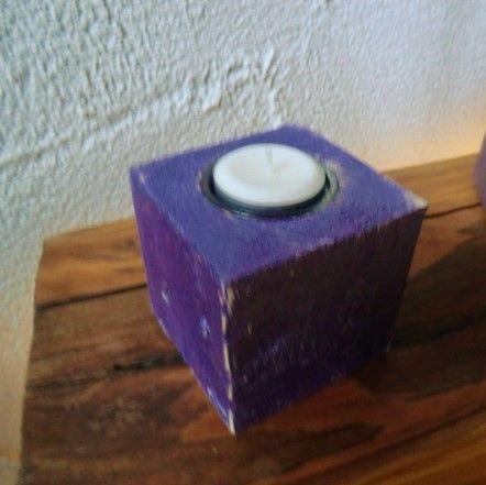Kerzenhalter Metallic Violett