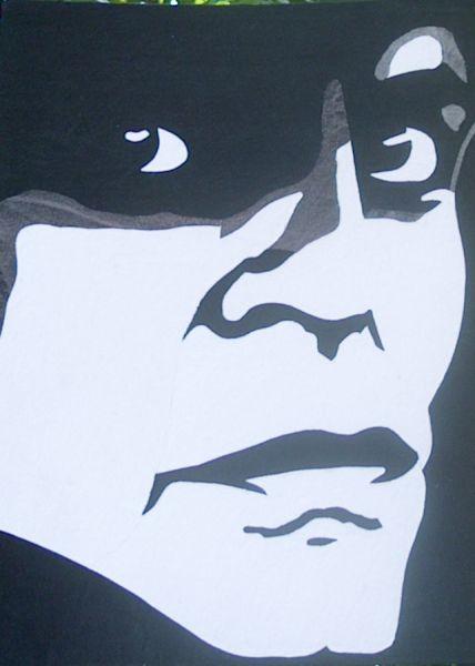 Portrait Klaus Kinski schwarz