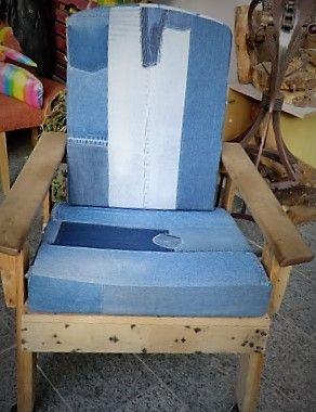 Paletten-Jeans-Sessel