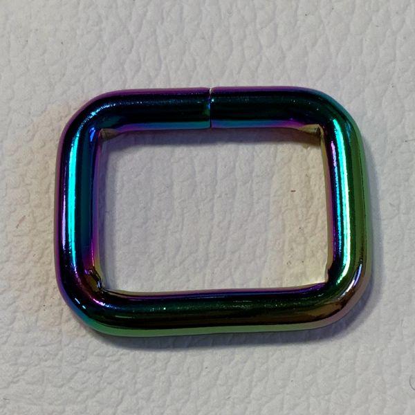 Regenbogen-Vierkant-Ring 25mm