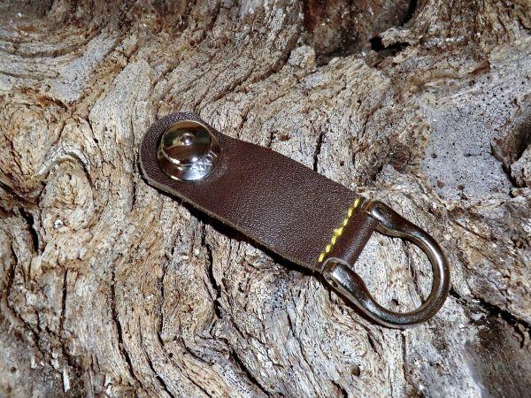 chrom- LOXX-Leder-Schlüsselband-braun