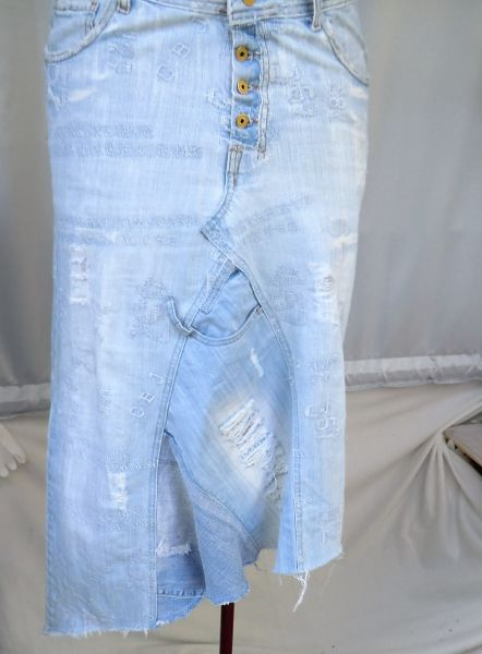 Rock upcycling aus einer CIPO&Baxx Jeans